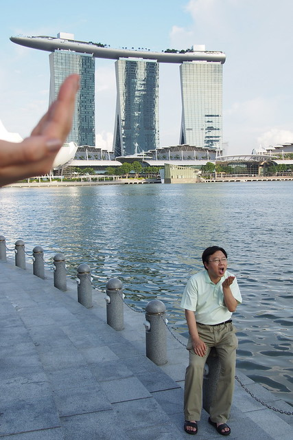 Tour of Singapore: cheesy photo pitstop with ArtScience Museum, Marina Bay Sands, Merlion