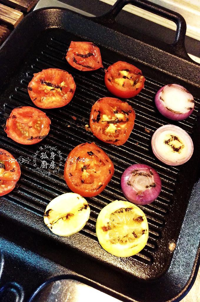 孤身廚房-地中海風味烤黑喉魚佐鑄鐵烤盤烤蔬菜8