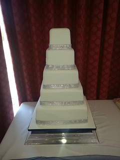 Five tiered diamanté wedding cake | by platypus1974