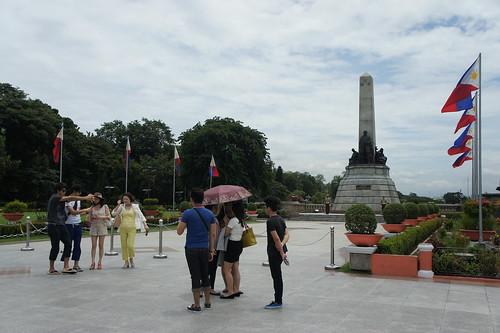 馬尼拉市面平靜,旅遊警察進駐景區,黎剎公園仍有少量遊客。(勞顯亮攝)
