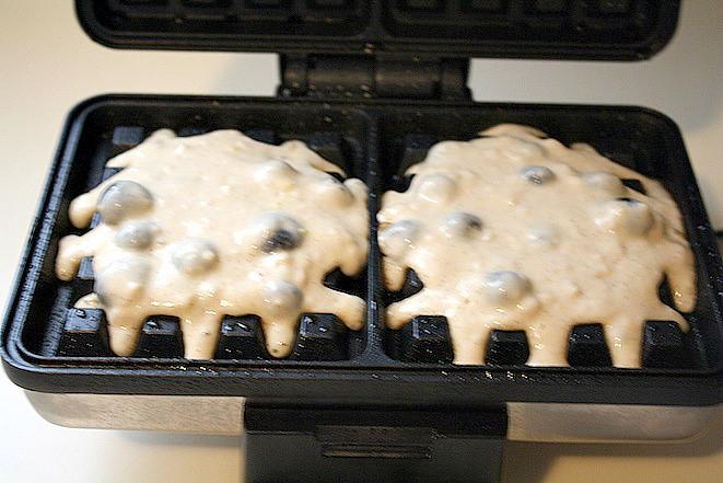Lemon Blueberry Dairy Free Belgian Waffles