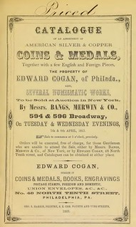 Cogan catalog cover