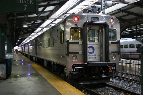 Metro-North Railroad Comet V in Hoboken station, Hoboken, New Jersey, US /Jan 24, 2017