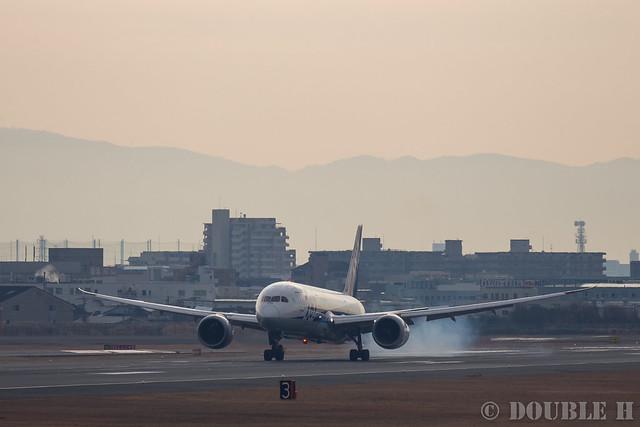 Itami Airport 2017.1.31 (16) JA819A / ANA's B787-8