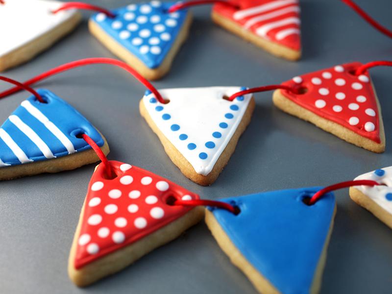 Pennant Sugar Cookies