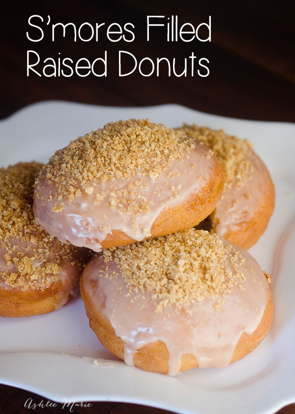 Smore filled raised donuts taste amazing and are easy to make, fill with chocolate and marshmallows for a sweet surprise