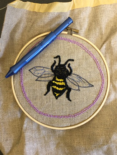 Punch needleembroidery bee | by Twill Power