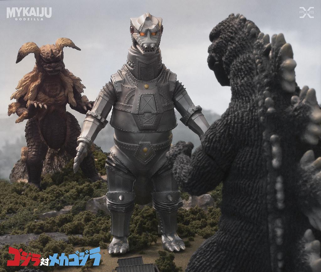 Godzilla & King Caesar vs MechaGodzilla | X-Plus 25cm ...