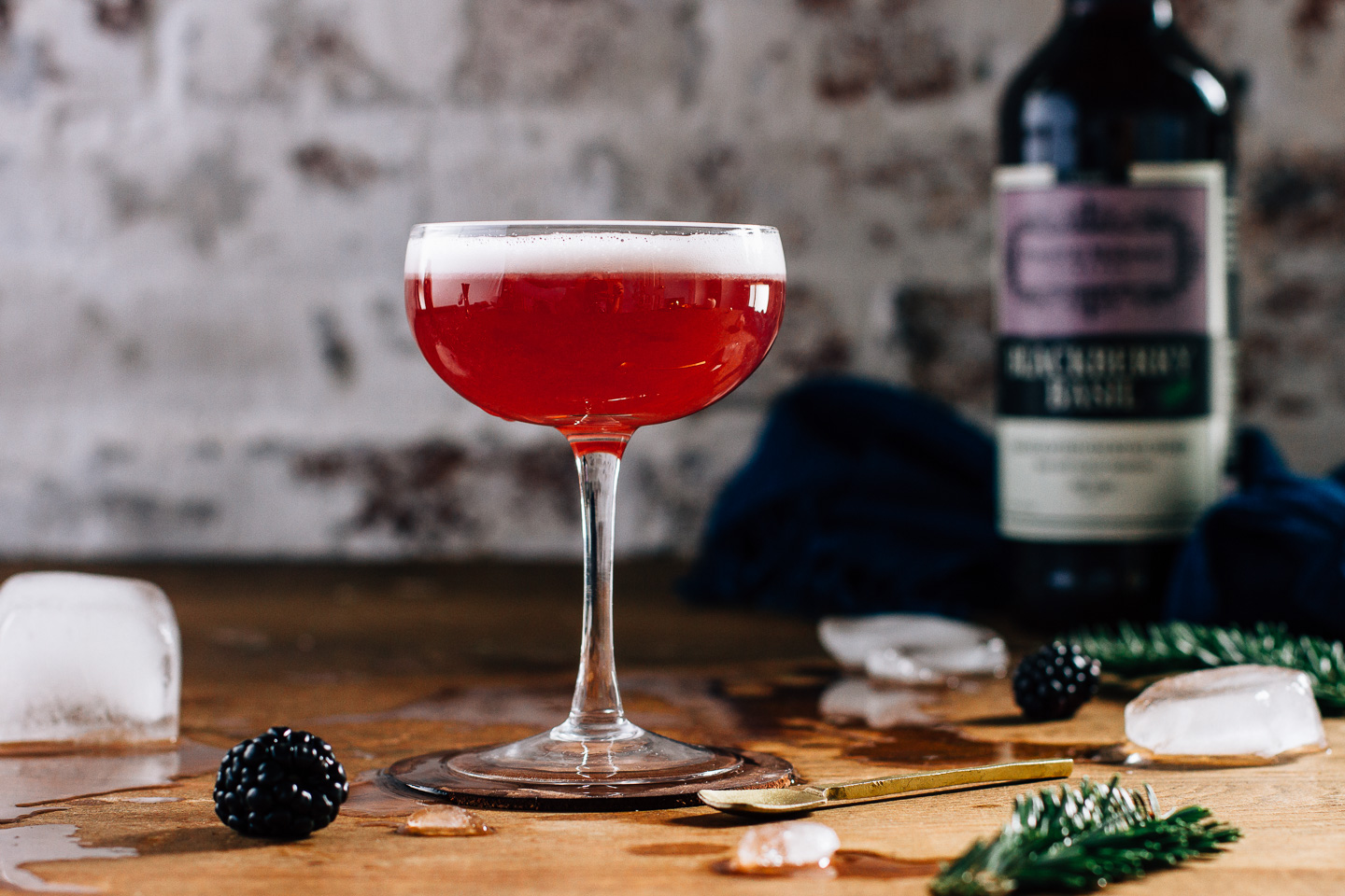 A Black Thai Affair - Blackberry Basil cocktail