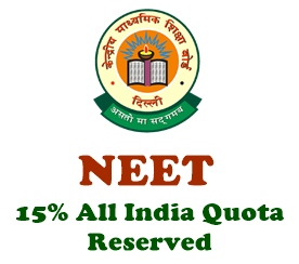 NEET 15% AIQ reserved