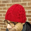 Hat trick completed! And Tim gets (another) new hat. #knitting