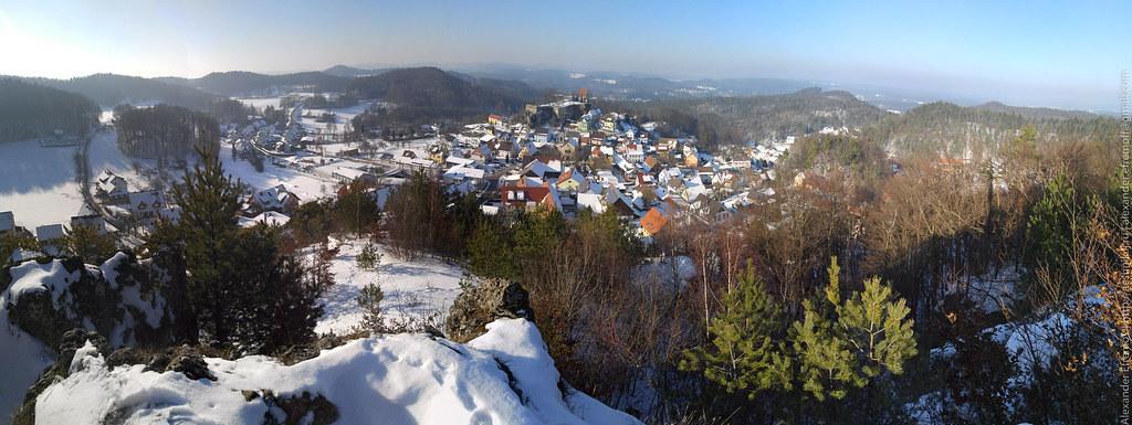 View on Hartenstein from Hirtenberg, Nürnberger Land