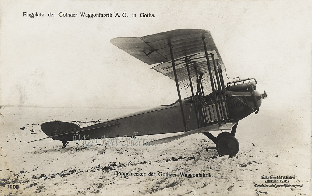 The Gotha LD 2 Two Seat Biplane With Very Small Rudder Section Germany