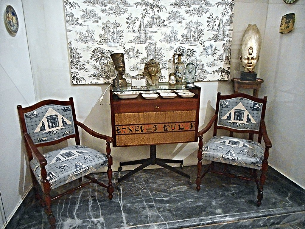 Ancient egyptian furniture -  Egyptian Furniture About 1950 Egypt In Drawing Room The Grimellini