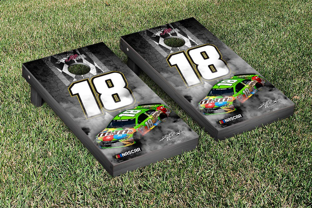 KYLE BUSCH #18 CORNHOLE GAME SET PIT ROW VERSION (1)