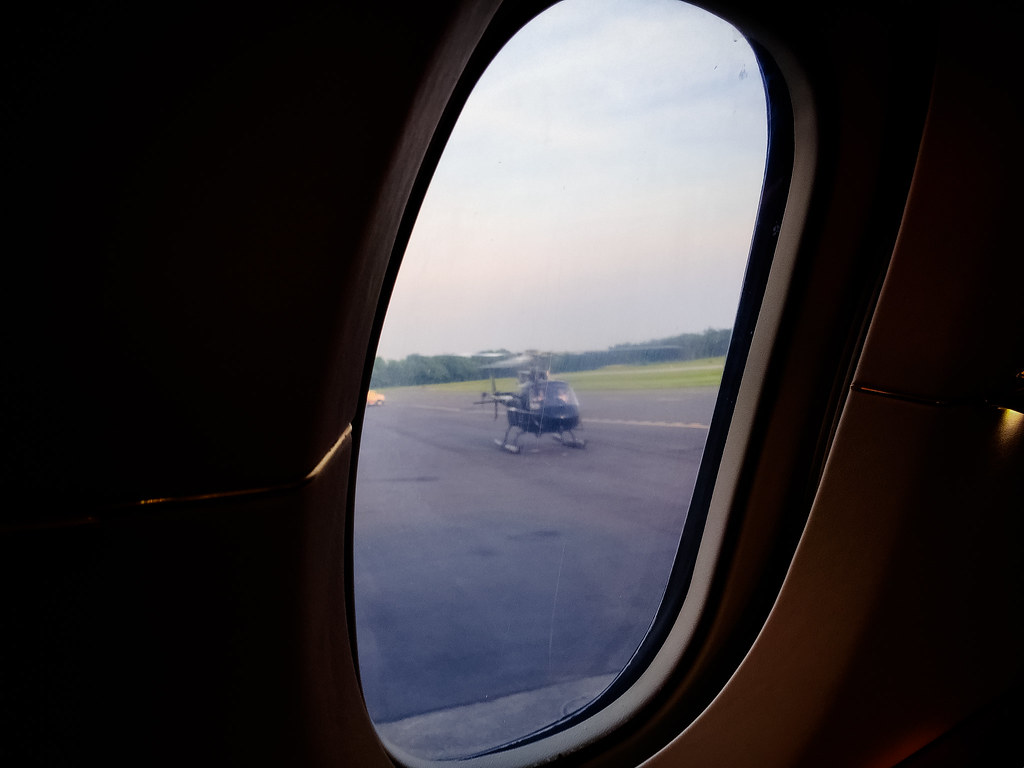 View of the Helicopter from the Plane