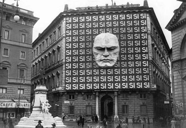 Lyg ir apie Mussolini...