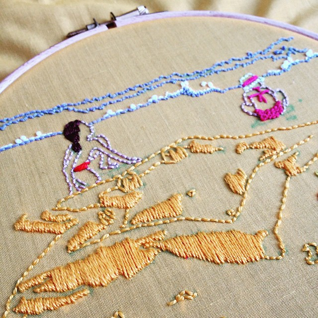July's project for the #airembroideryclub is now ready, yay! Soon will be landing on members' inboxes. To join, visit http://www.airdesignstudio.com/embroidery-club/ #embroideryisforeveryone #embroidery #dscolor #dstexture