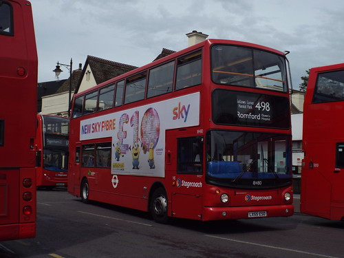 Stagecoach East London 18480, LX55ESO in Romford on route 498