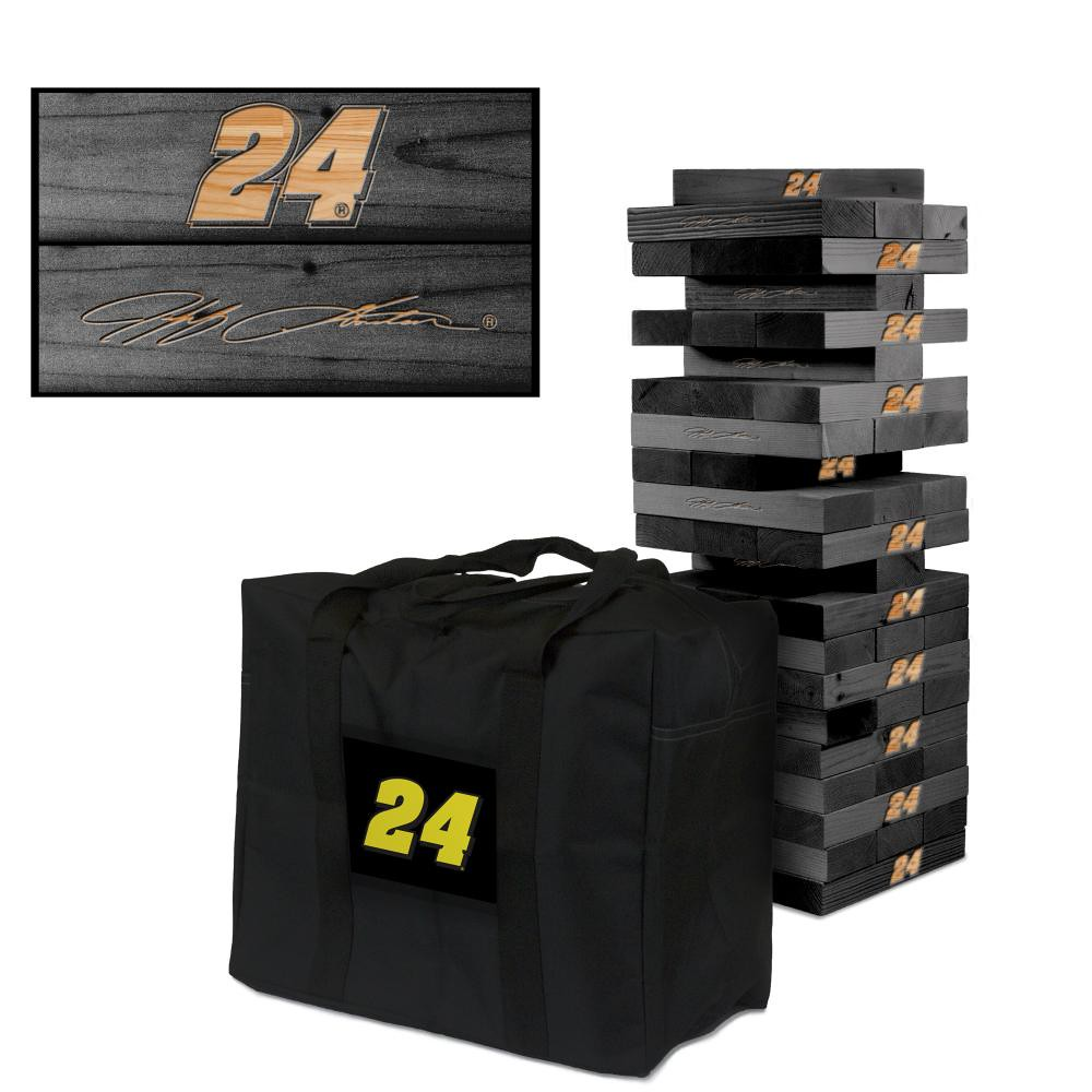JEFF GORDON #24EVER Wooden Onyx Stained Tumble Tower Game