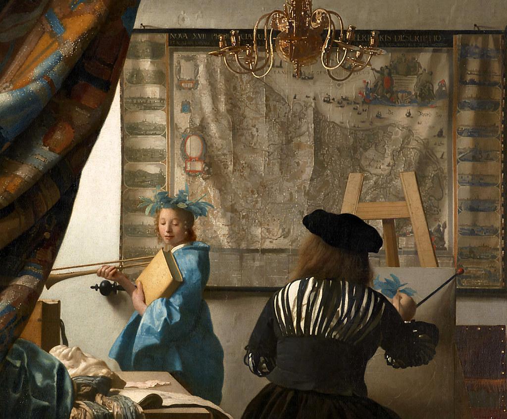 Jan Vermeer, Die Malkunst (The Art of Painting) Detail | Flickr