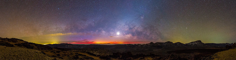 Via Lactea y Luna