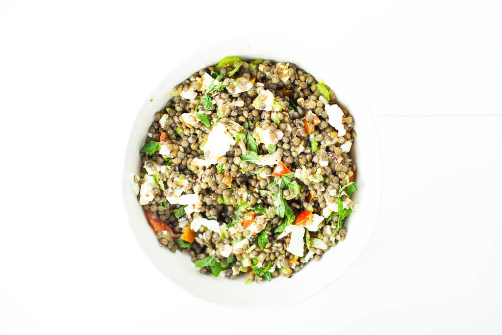 lentil salad with mustard dressing