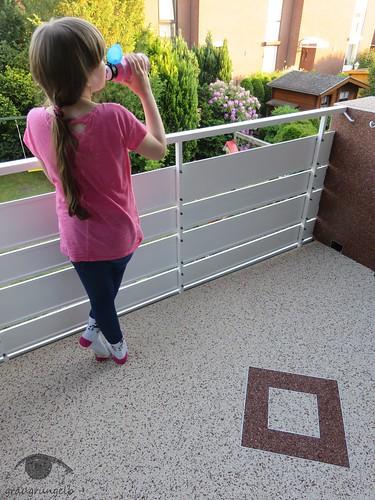 Balkonbesitzerin