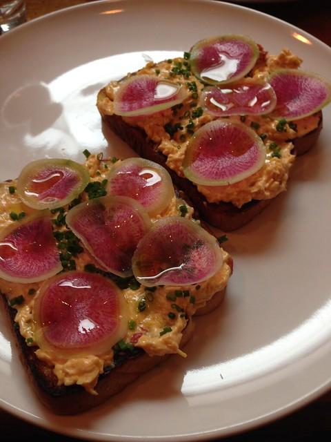 pimento toast at LeGrand Kitchen