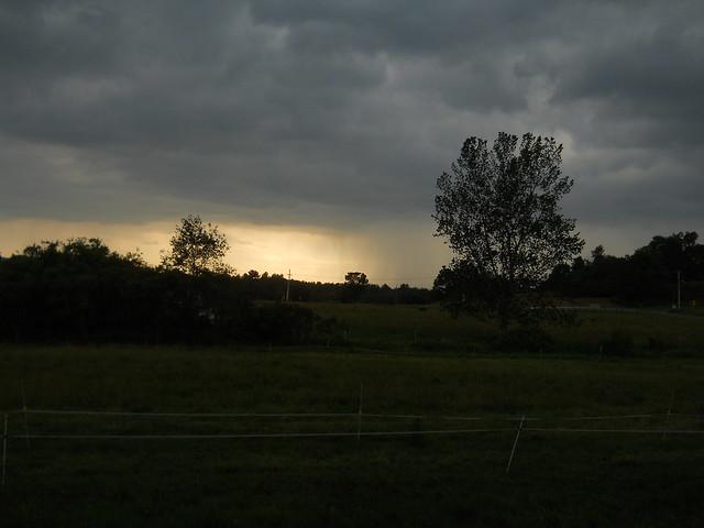 portentous skies