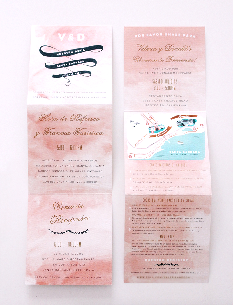 Wedding Invitation Suite by Valerie Enríquez