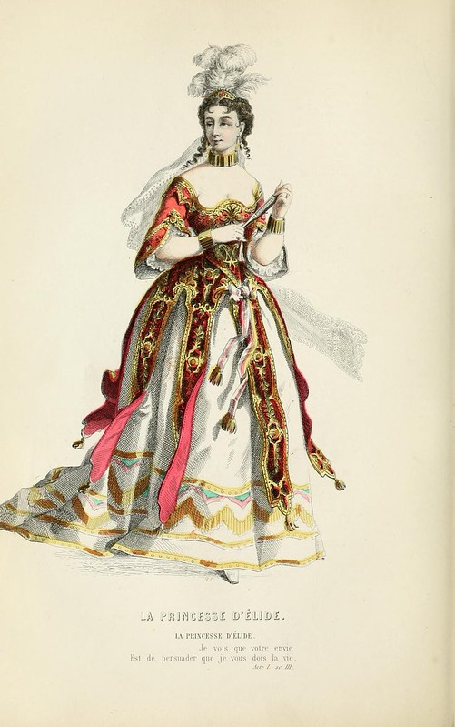 006- La princesa de Ilia -Oeuvres completes ornee de portraits en pied colories…1871- Moliere