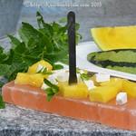 Wassermelone und Feta vom Persischen Salzblock