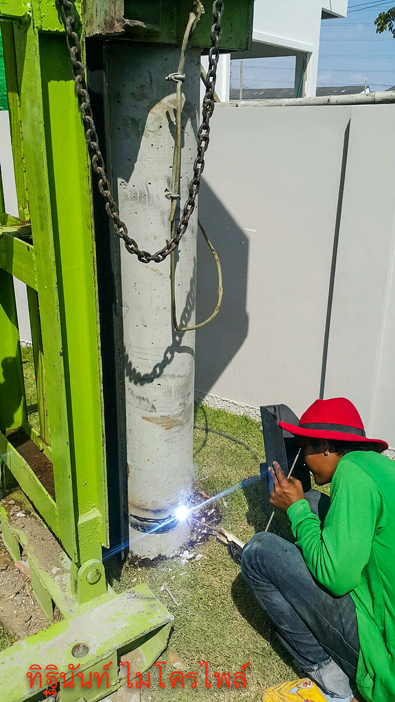 งานตอกเสาเข็มไมโครไพล์ ต่อเติมบ้านจัดสรรโครงการ วิลล่า โนวา เทพารักษ์