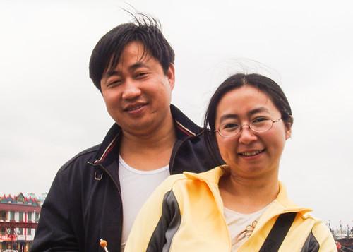 谢阳和妻子