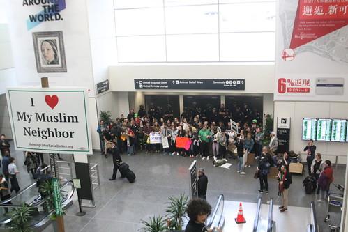 SFO Muslim Ban Protest