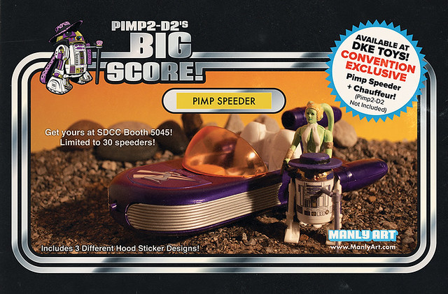Pimp2-D2's Big Score Pimp Speeder with Chauffeur by Manly Art