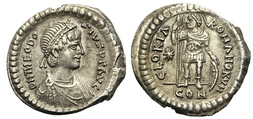 Miliarense silver coin