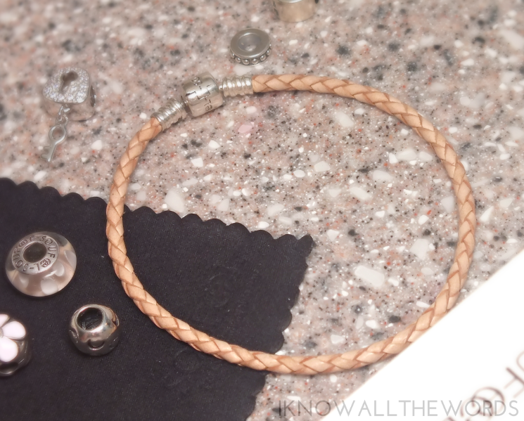 soufeel review Silver Skin Color Leather Charm Bracelet (2)
