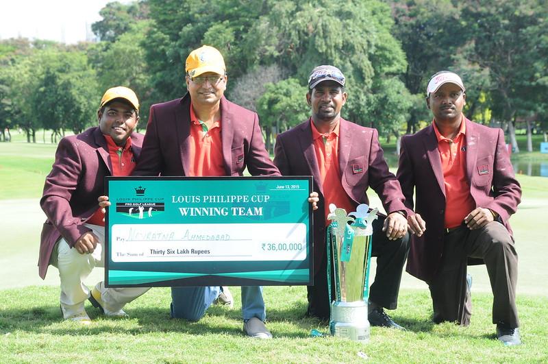 Winners Navratna Ahmedabad L-R - Mithun Perera, Devang shah (owner), Anura Rohana and Shankar Das