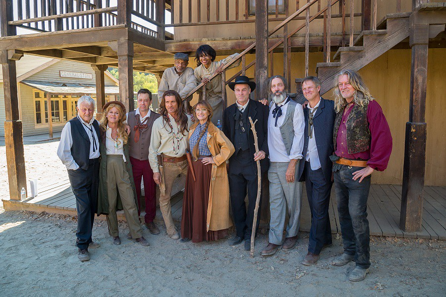 Cast of Funny or Die - Dr. Quinn reunion   The cast poses fo ...