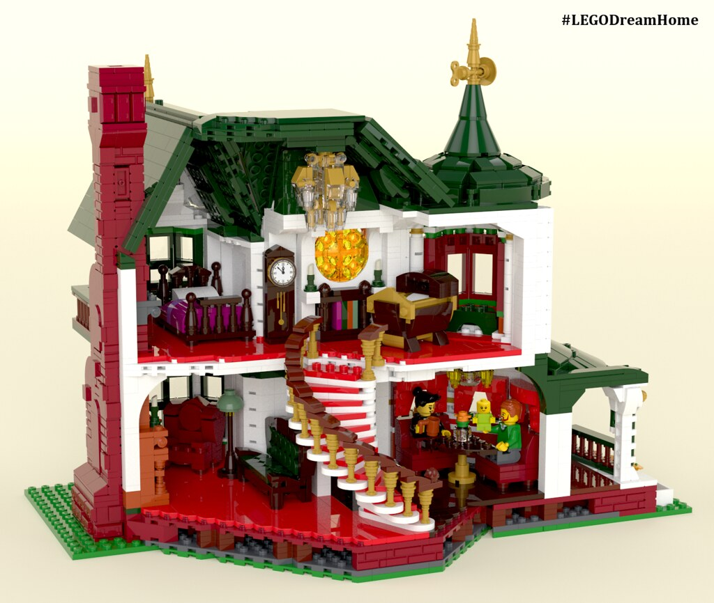 Victorian Dream Home on LEGO Ideas - Interior | Featured on:… | Flickr