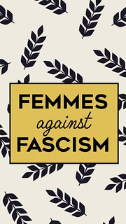 Femmes Against Fascism - Black & Gold Modern | by femmefraiche