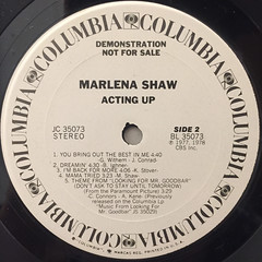 MARLENA SHAW:ACTING UP(LABEL SIDE-B)