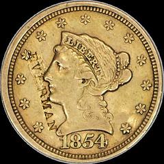 1854 Quarter Eagle Everman obv