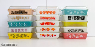 Here's some of my favourite Agee/Crown Pyrex oblong casseroles (aka space savers)... | by That Retro Piece