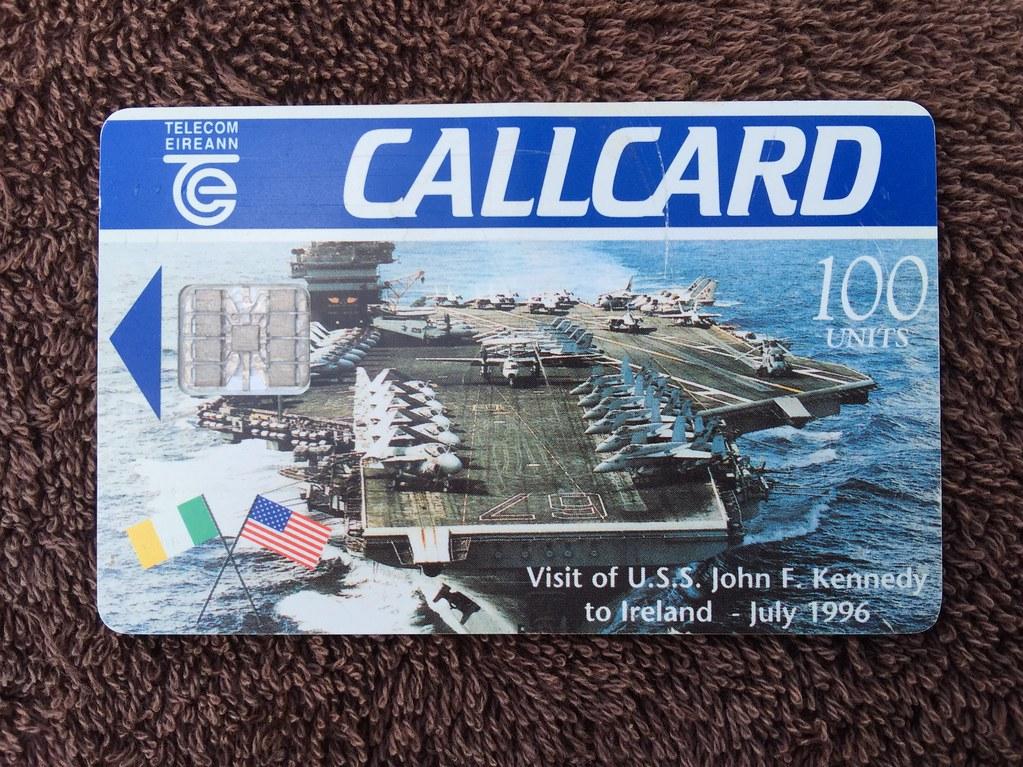 telecom eireann ireland pre pay phone call cards uss john f - Payphone Calling Cards