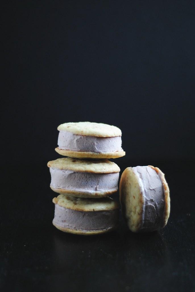 Strawberry Ice Cream Cookie Sandwiches