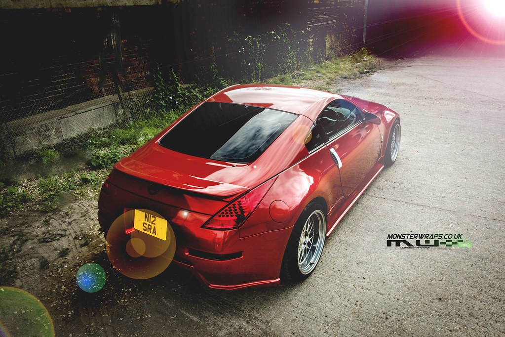 ... Monsterwraps Nissan 350Z Dragon Fire Red | By DUP_Automotive