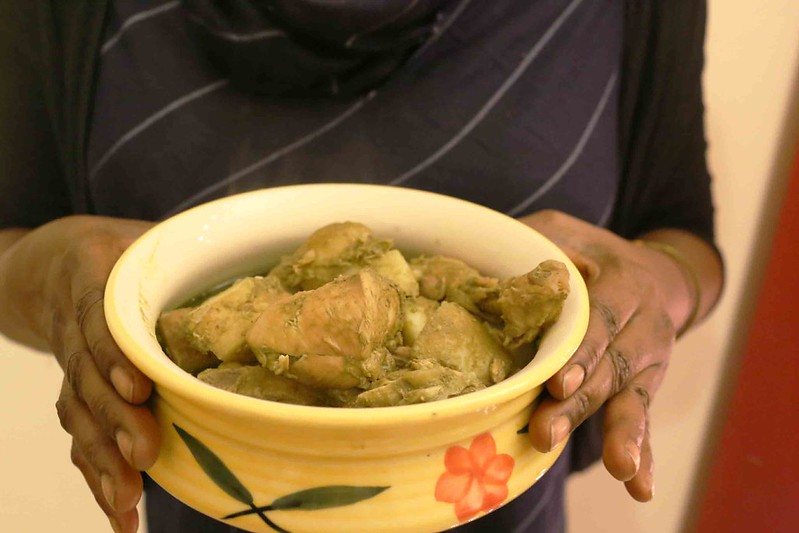 Julia Child in Delhi – Author Rosalyn D'Mello Cooks Goan Green Curry Chicken, Kailash Hills